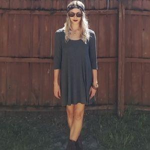 Alya Grey Tunic Dress